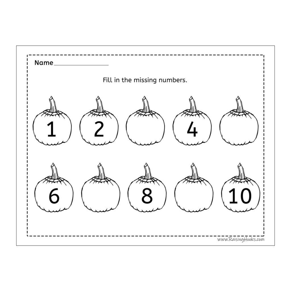 Missing Numbers On Pumpkins