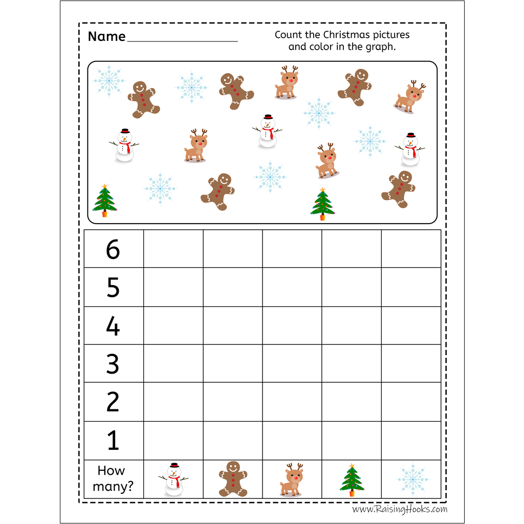 Christmas Graph Worksheet