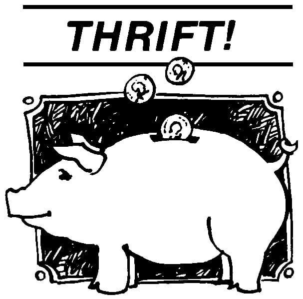 Thrift Store Items Clip Art