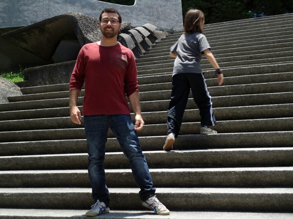 Juan Pablo & Miro explore the grounds