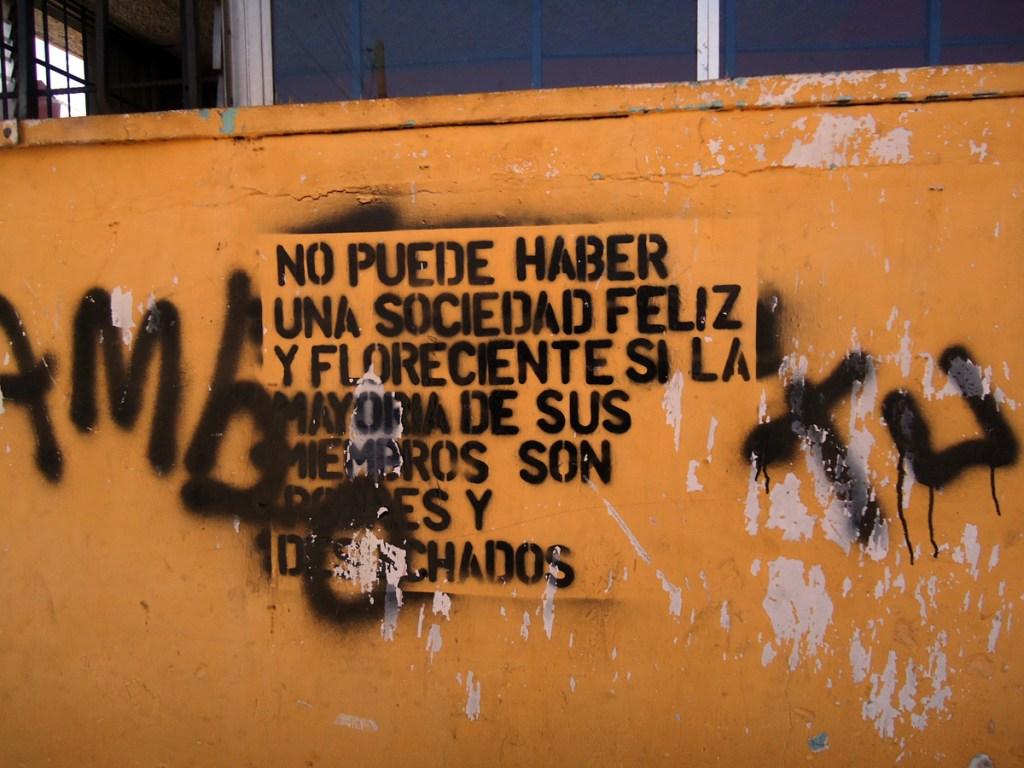 Guate street political art.