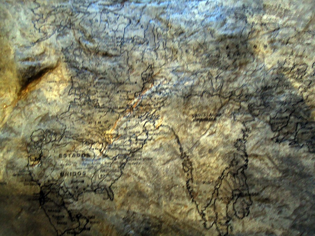 Carved rock detail