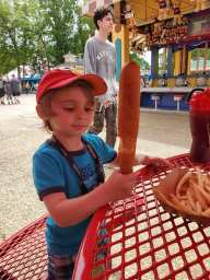 NinjaBaby's Biggest Corndog Ever