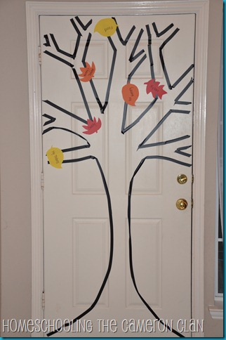 11-4-11 Thankful Tree & 3 Day - Day 1 001