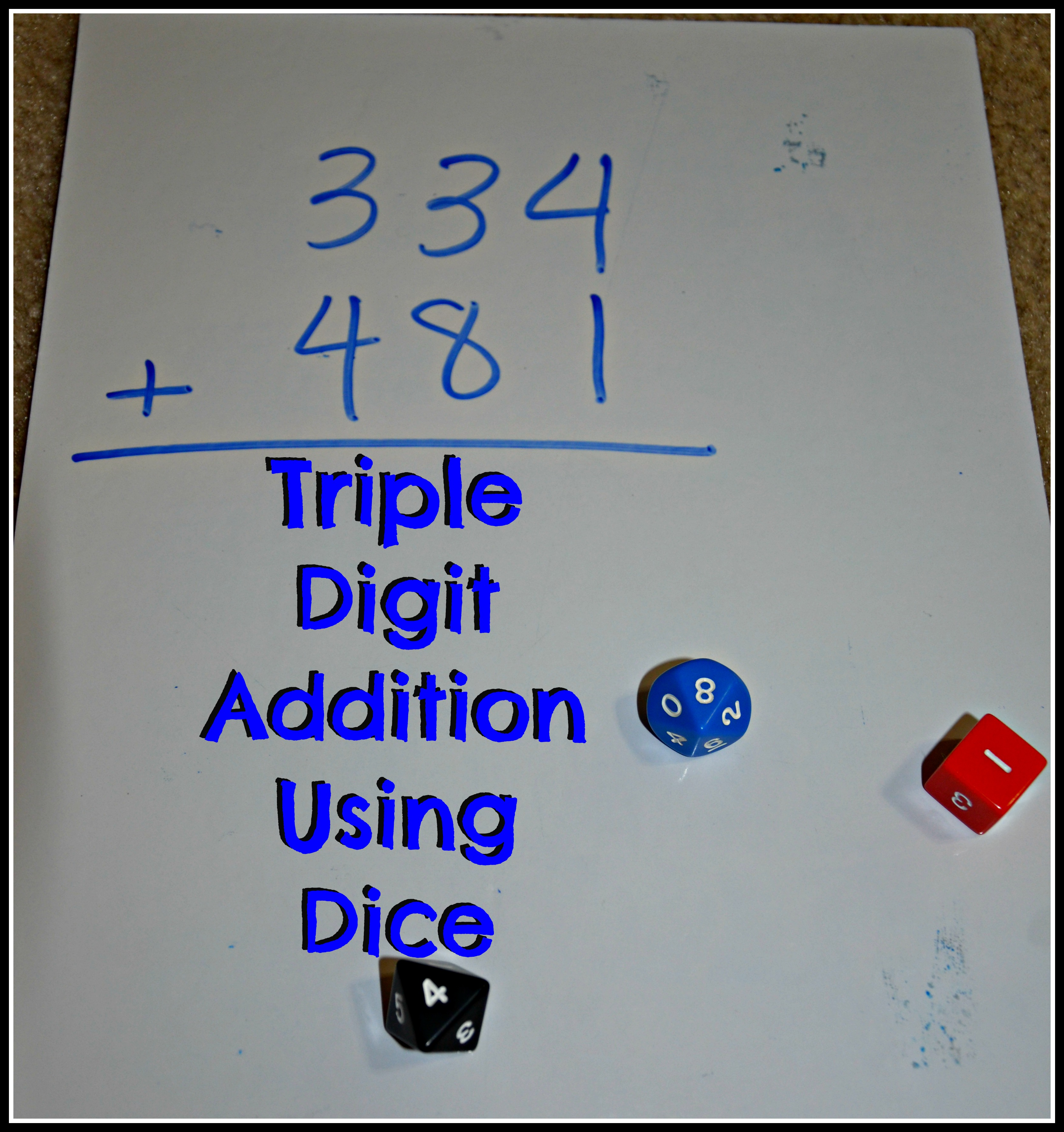 Triple Digit Addition Using Dice Raising The Cameron Clan