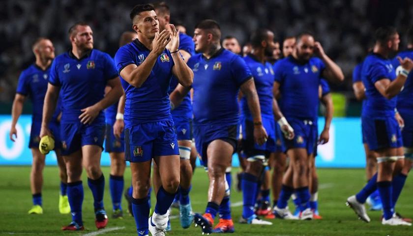 Italia - Canada 48 -7. Con questa vittoria l'Italrugby è sicura di partecipare al prossimo mondiale di rugby nel 2023. Foto: Getty.