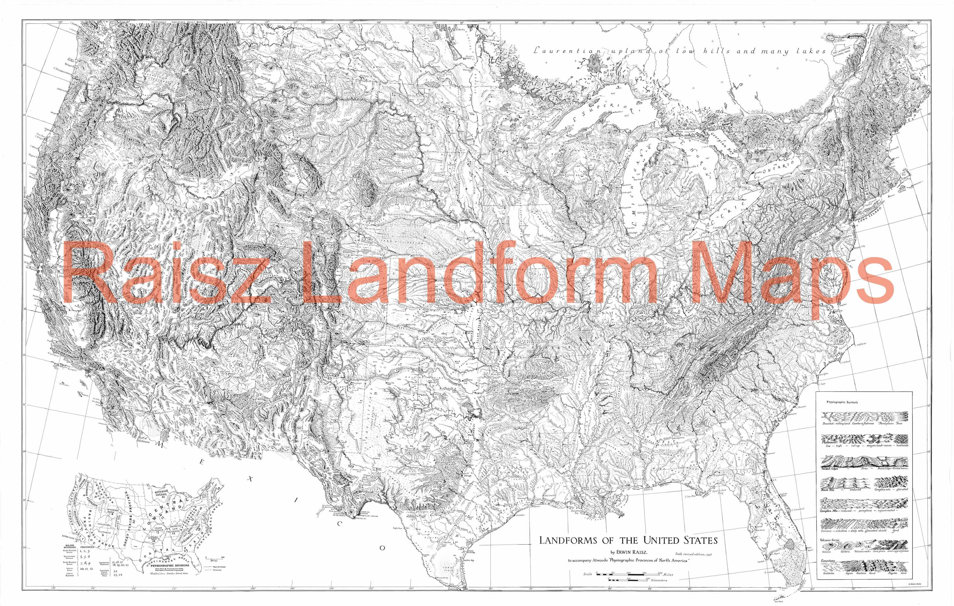 26 Landform Map Of The United States