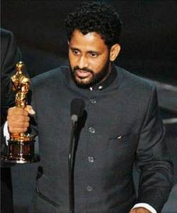 Resul Pookutty receiving academy award