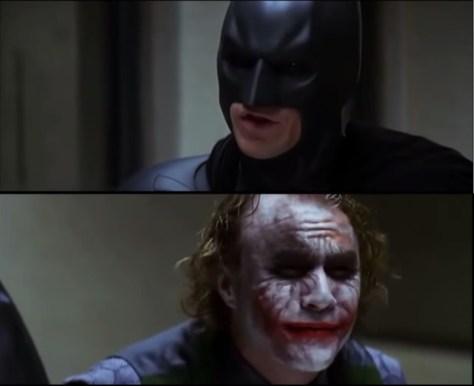 Dark Knight - Batman interrogates Joker