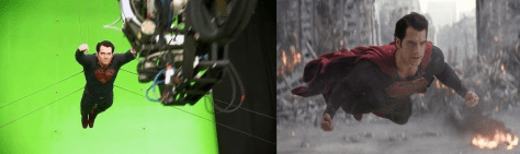 A shot from Man of Steel using Chroma Keying