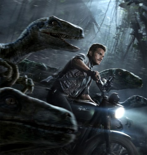 Jurassic World Bike sequence with Velociraptors