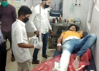 Uncontrolled car ravaged in Rajendra Nagar, youth's leg broken