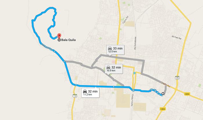 Alwar Fort Map