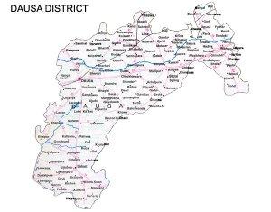 Dausa District Road Map