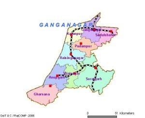 Sri Ganganagar District Map