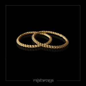 Gold Plated Pinnal Bangles Size