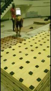 pemasangan lantai kayu Jati Gor satria Putra karawang 1 (2)