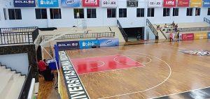 Lantai kayu Jati Universitas Frima Medan6