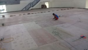 pemasangan lantai kayu Jati Gor satria Putra karawang 21