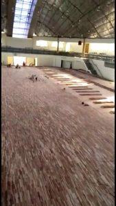 pemasangan lantai kayu Jati Gor satria Putra karawang 9