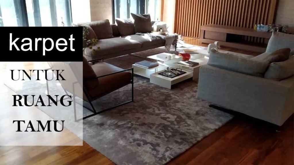 rekomendasi lantai untuk ruang tamu kayu karpet