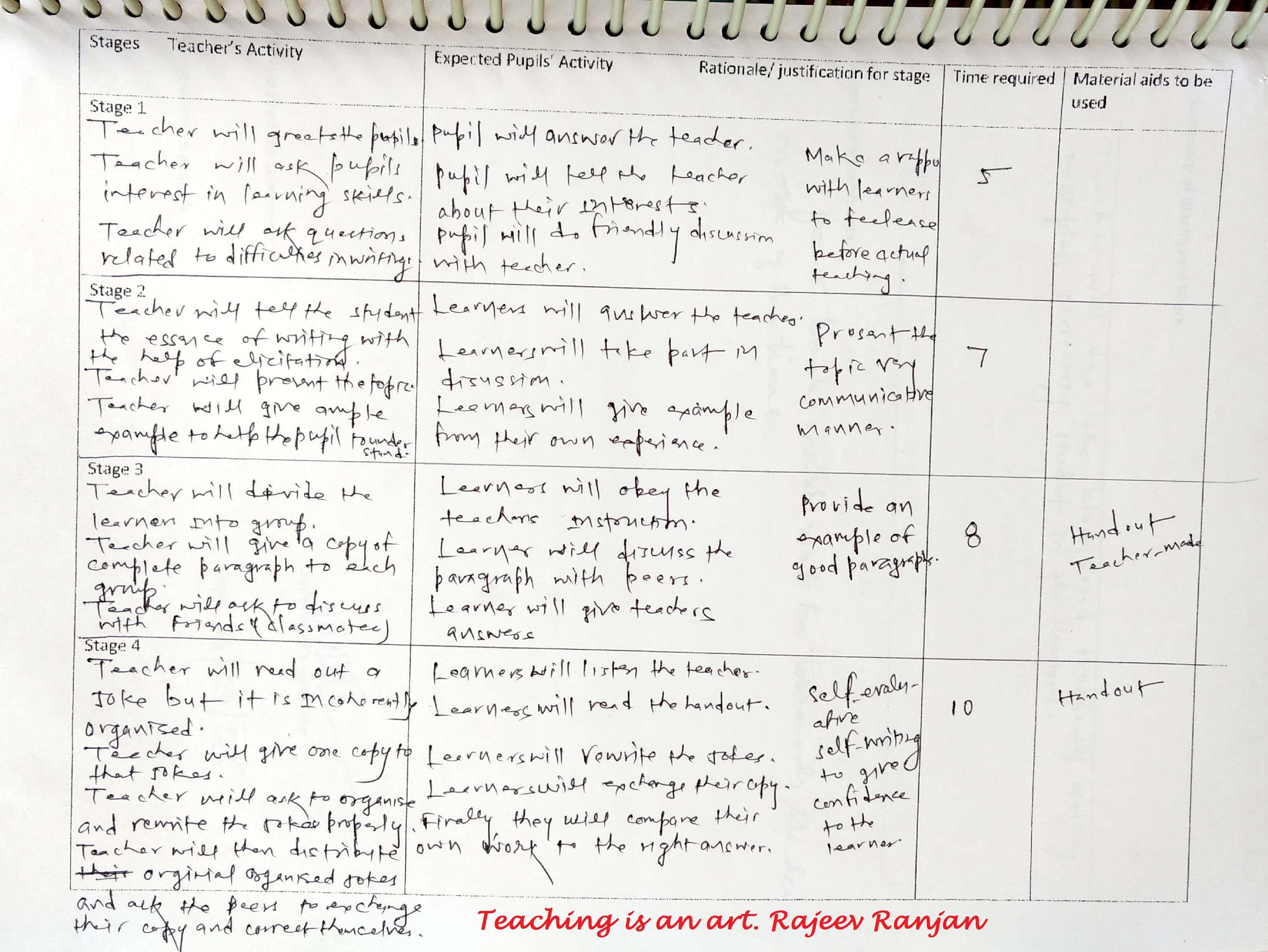 Planning A Lesson English Language Teaching Developing