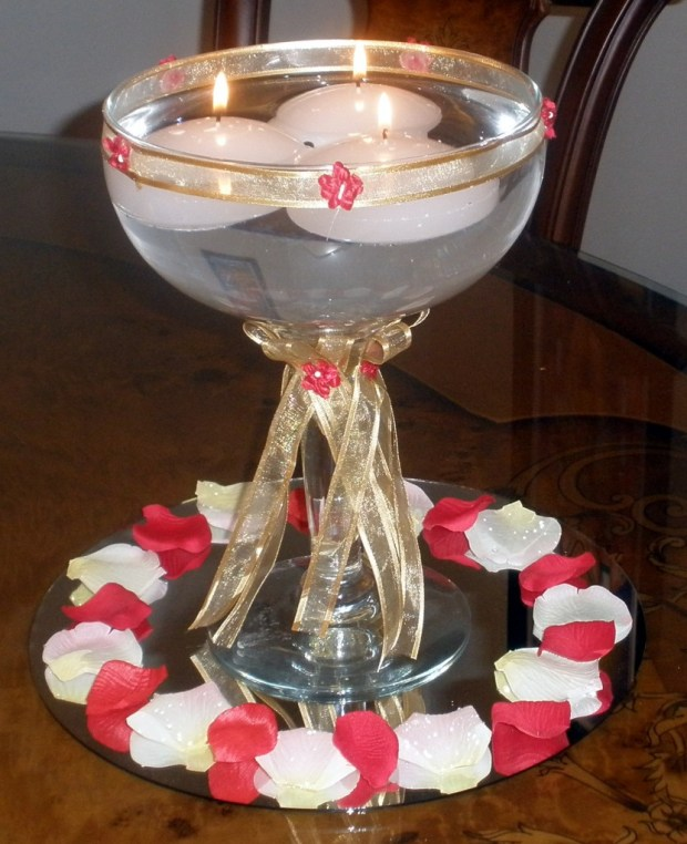 Floating Candles in Margarita Glass
