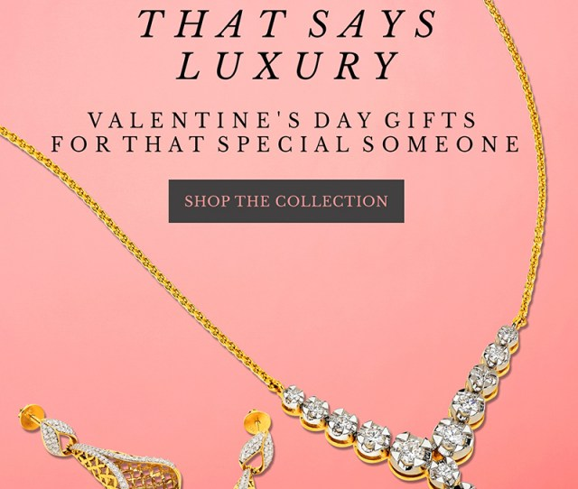 Valentines Day Gifts Jewelry Collection In 22k Gold Diamonds