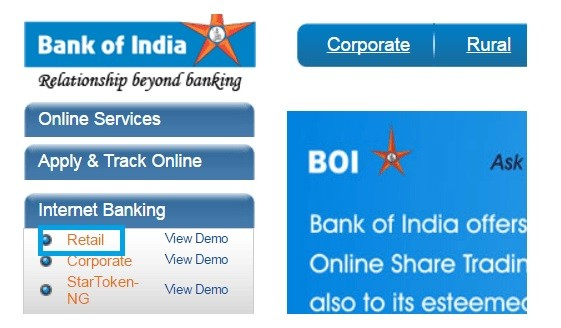 How To Register Bank of India (BOI) Internet Banking Online ?
