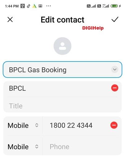Book BPCL Cooking Gas via Whatsapp-add contact