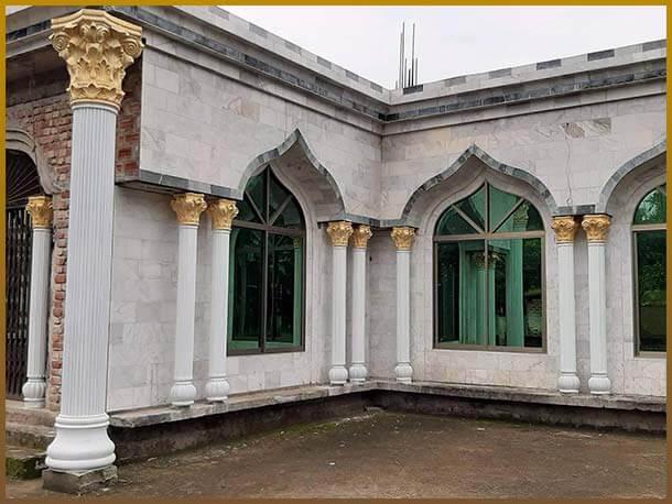 rcc pillar decorated mosque