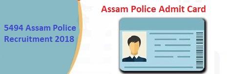 assam police admit card