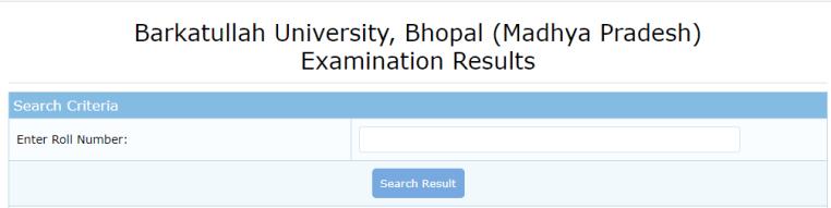 BU Bhopal Result