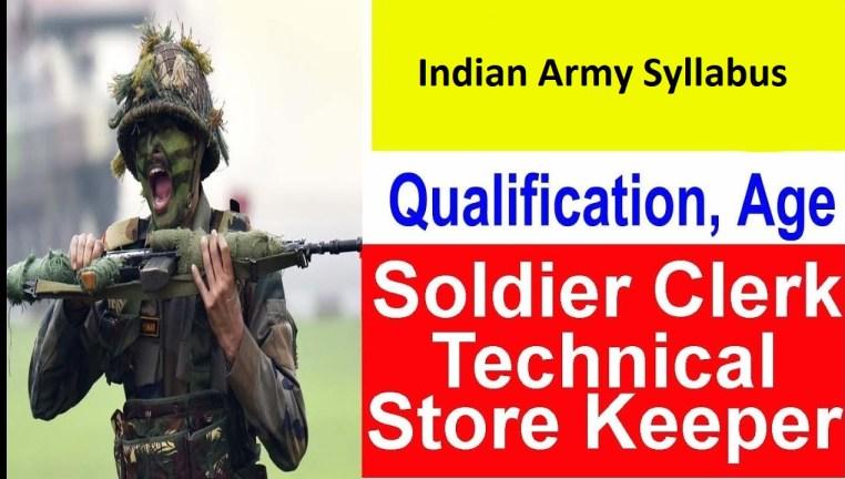 Indian Army Syllabus
