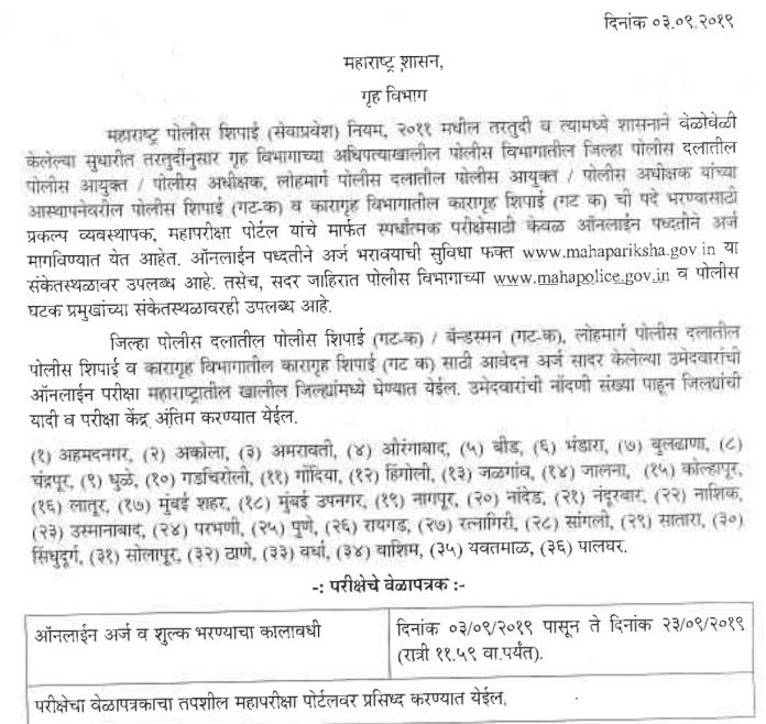 Maha Police Bharti