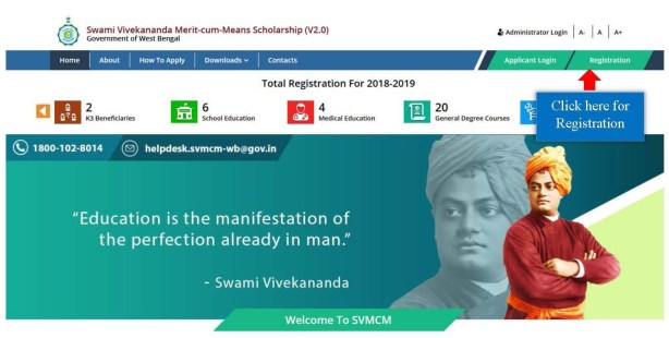 Swami Vivekananda Scholarship 2019 Online Form, Renewal