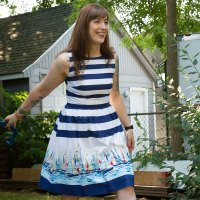 Nautical Birthday Emery Dress