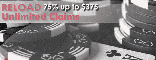 Black Chip Poker Unlimited 75% Reload Bonuses