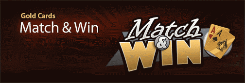 Cake Gold Cards Match & Win Promotion