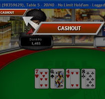 Cashout Tournament at Full Tilt Poker