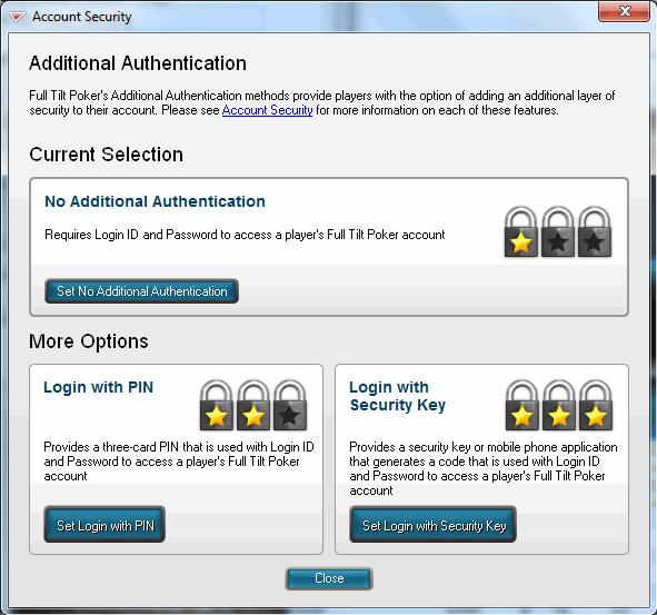 Full Tilt Poker Account Security