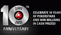 PokerStars 10th Anniversary Celebration