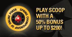 PokerStars SCOOP Reload Bonus