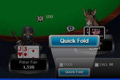 Rush Poker quick fold button.