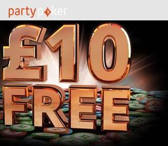 PartyPoker Free £10