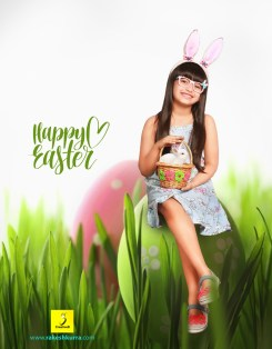 easter kids photography concept