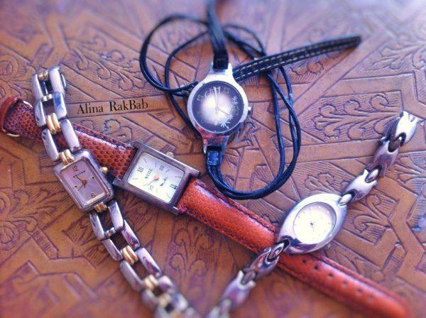 différentes montres temps qui passe