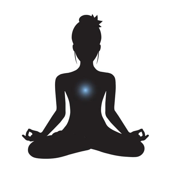 yoga posture du lotus noir et blanc silhouette