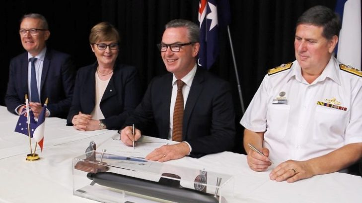 NGA signing of the Submarine Design Contract image 1