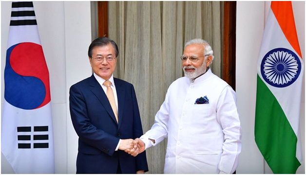 President Moon Jae-in with Modi